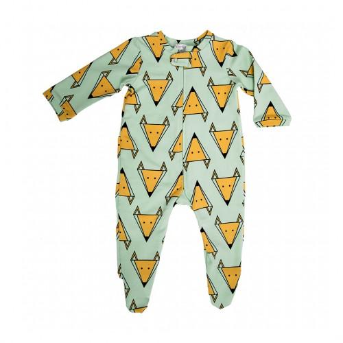 Пижама с лисицами мятного цвета